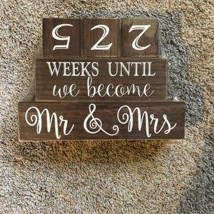 Wedding countdown.